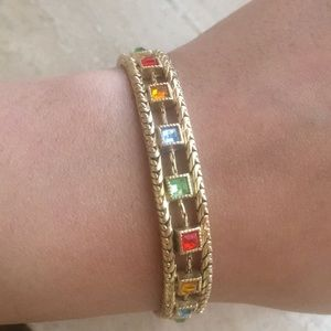 Jewelry - Gold and multi colored bracelet